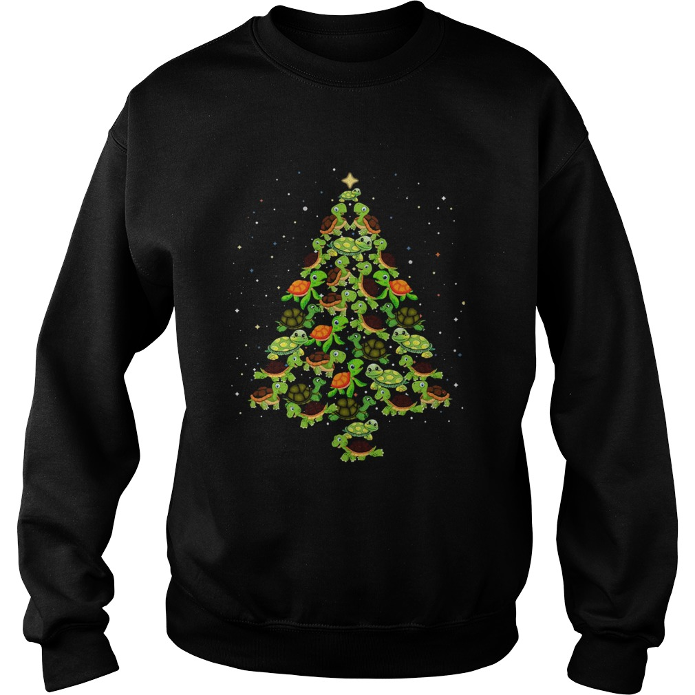 Turtles Tree Christmas  Sweatshirt