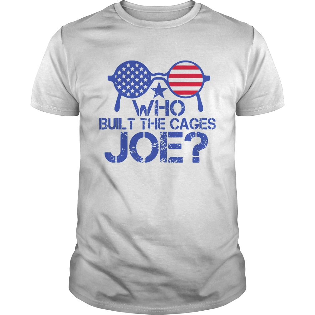 Who Built The Cages Joe Sunglasses American Flag  Unisex