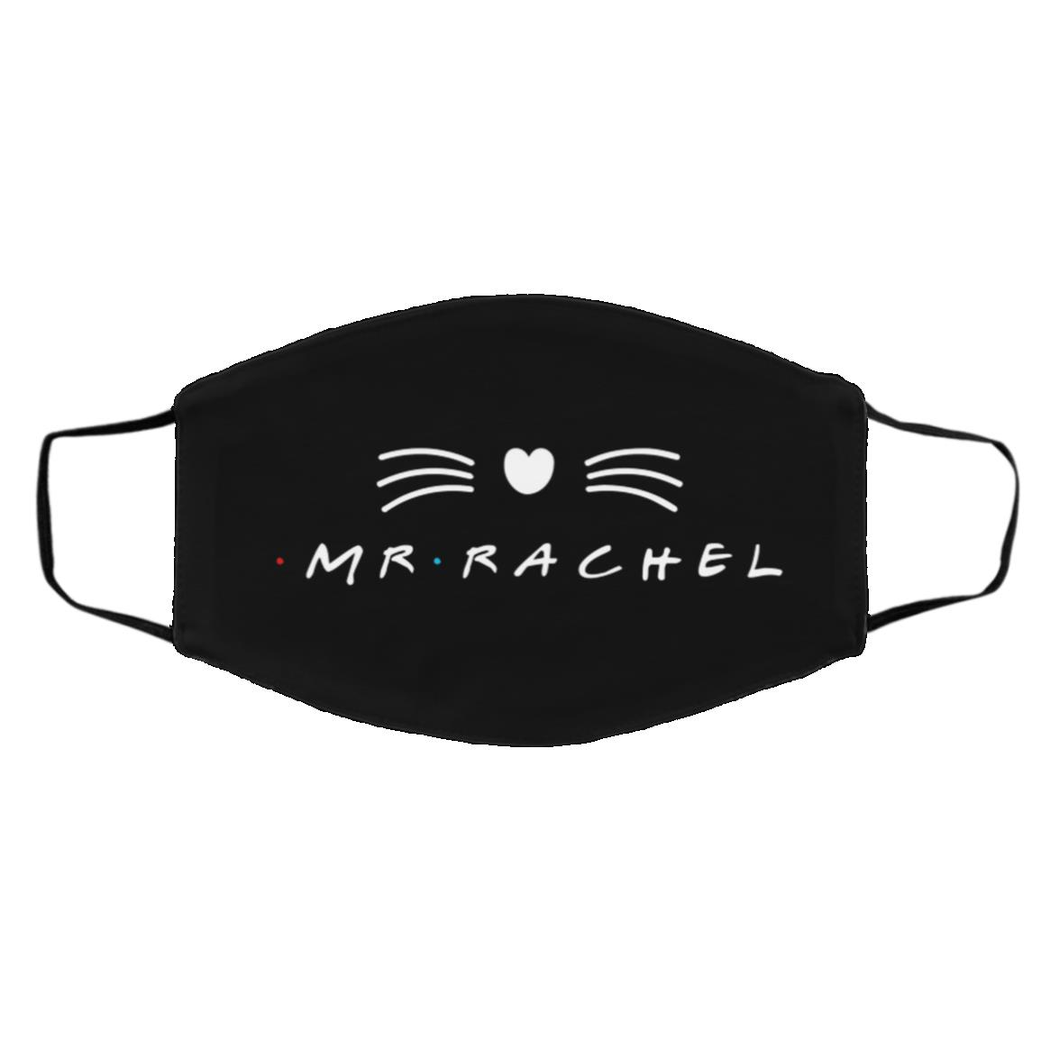 Mr Rachel Mrs Ross Couple Friends, Black, Cloth Face Cover – Medium/Large