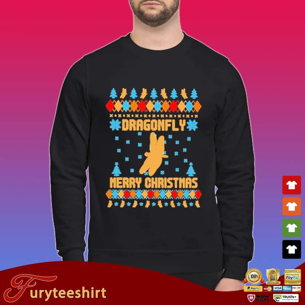 Dragonfly Ugly Merry Christmas sweater