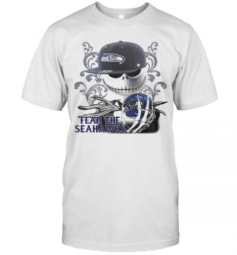 Jack Skellington Fear The Seattle Seahawks T-Shirt Classic Men's T-shirt