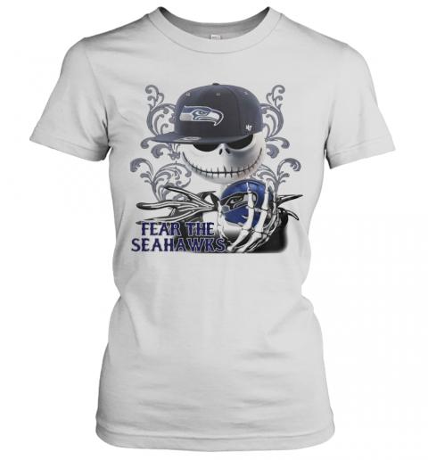 Jack Skellington Fear The Seattle Seahawks T-Shirt Classic Women's T-shirt