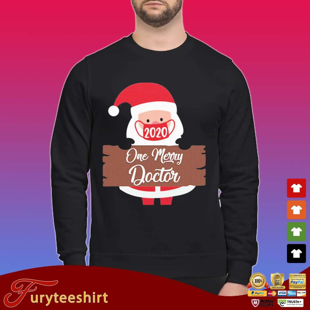 Santa Claus Face Mask 2020 One Merry Doctor Christmas Sweater