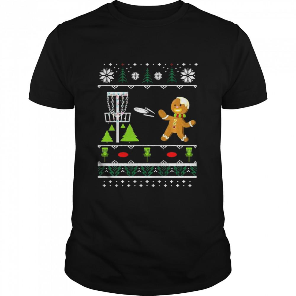 Ugly Disc Golf Christmas Sweater Gingerbread Man  Classic Men's T-shirt