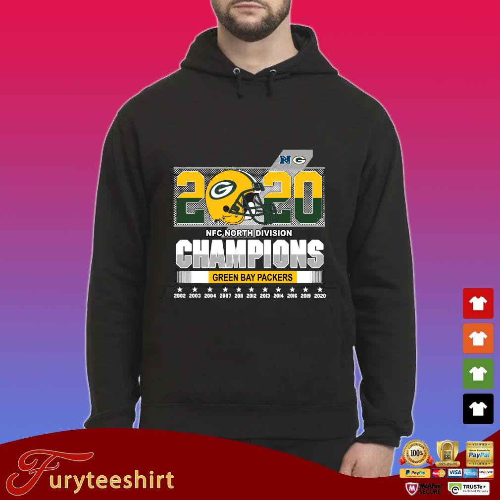 2020 NFC North Division Champions Green Bay Packers 2002-2020 s Hoodie