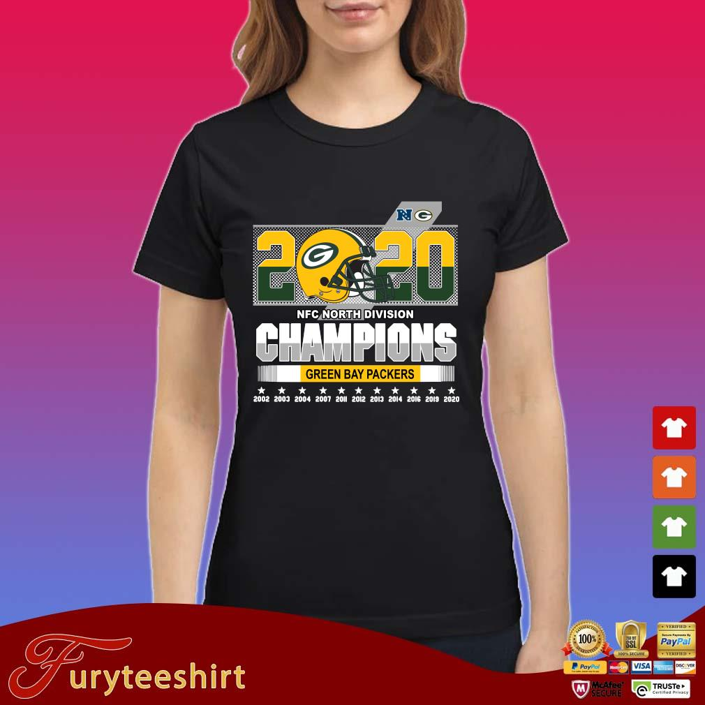 2020 NFC North Division Champions Green Bay Packers 2002-2020 s Ladies