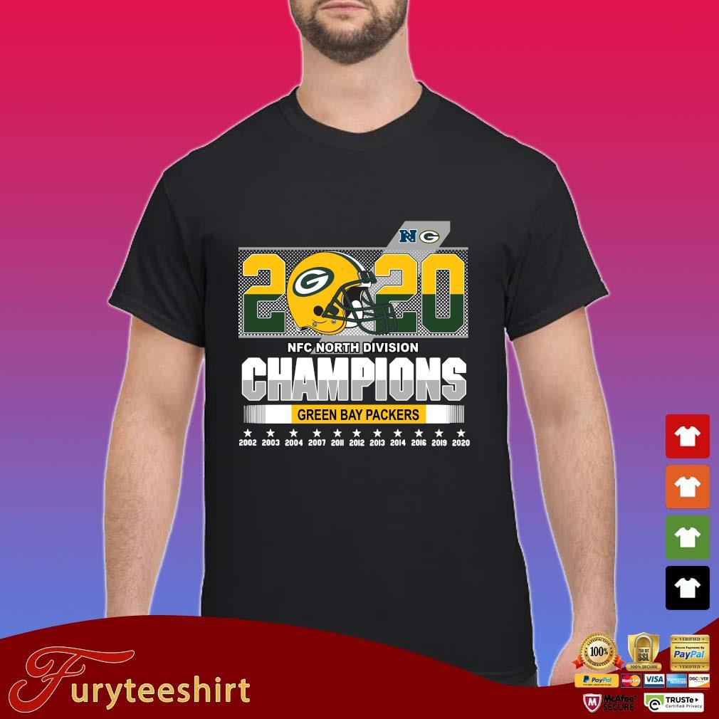 2020 NFC North Division Champions Green Bay Packers 2002-2020 s Shirt