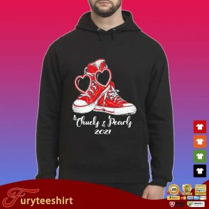 Chucks and Pearls 2021 red converse s Hoodie
