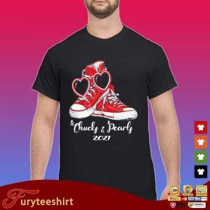 Chucks and Pearls 2021 red converse shirt