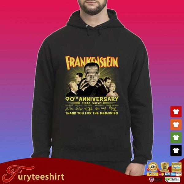 Frankenstein 90th anniversary 1931-2021 thank you for the memories signatures s Hoodie