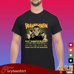 Frankenstein 90th anniversary 1931-2021 thank you for the memories signatures s Shirt