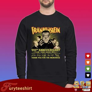 Frankenstein 90th anniversary 1931-2021 thank you for the memories signatures shirt
