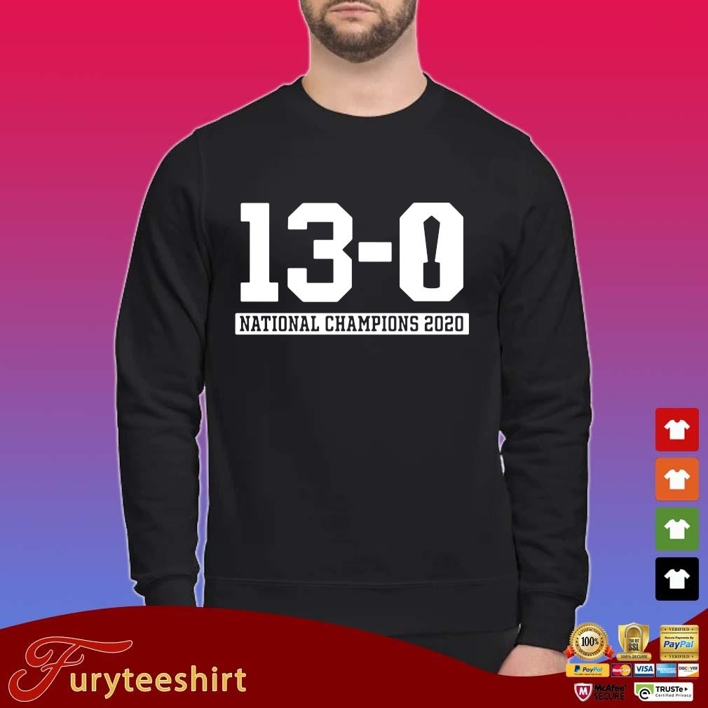 Funny 13-0 national Champions 2020 shirt