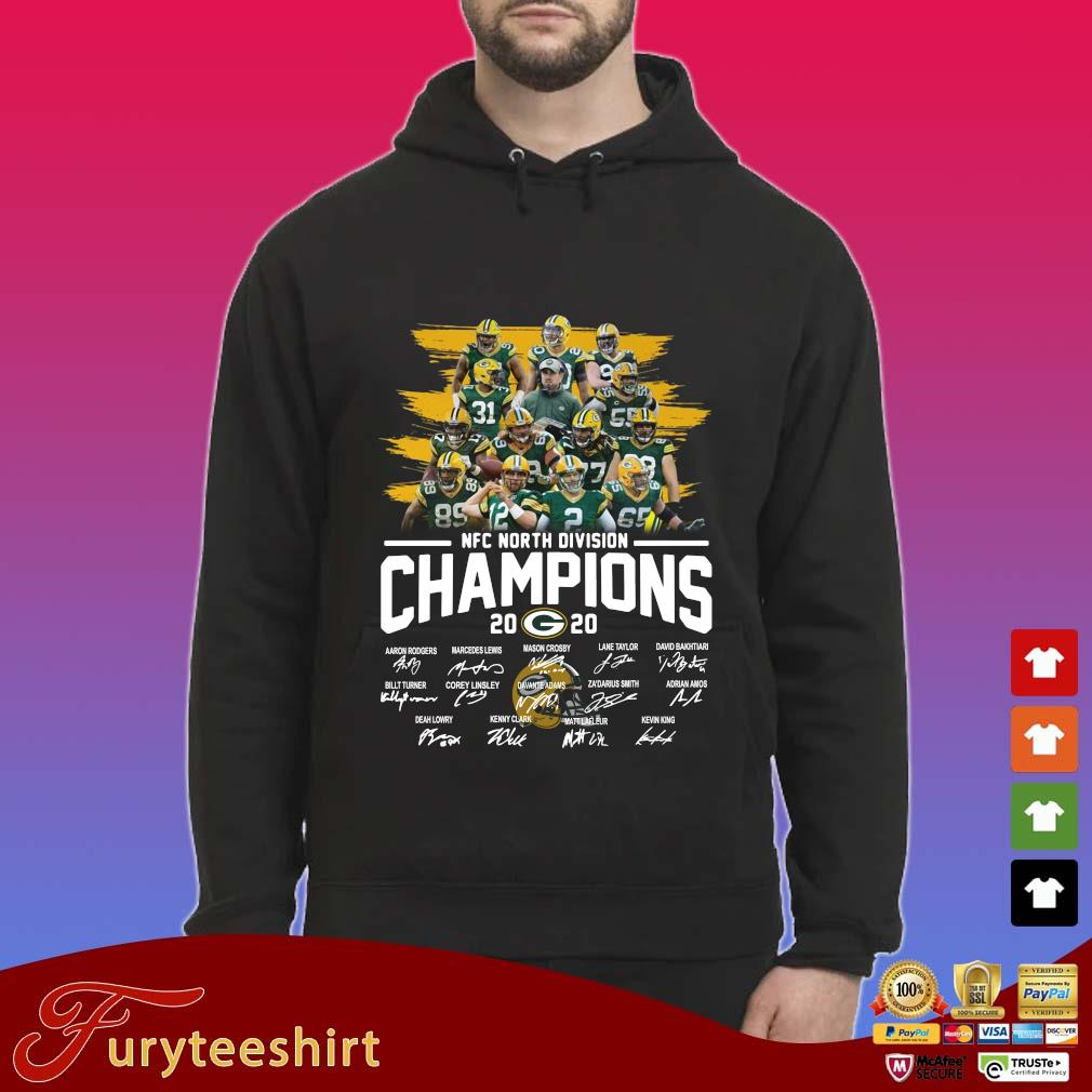Green Bay Packers NFC north division Champions 2020 signatures s Hoodie