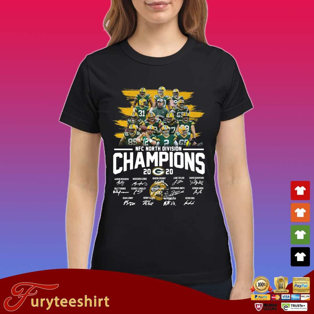 Green Bay Packers NFC north division Champions 2020 signatures s Ladies