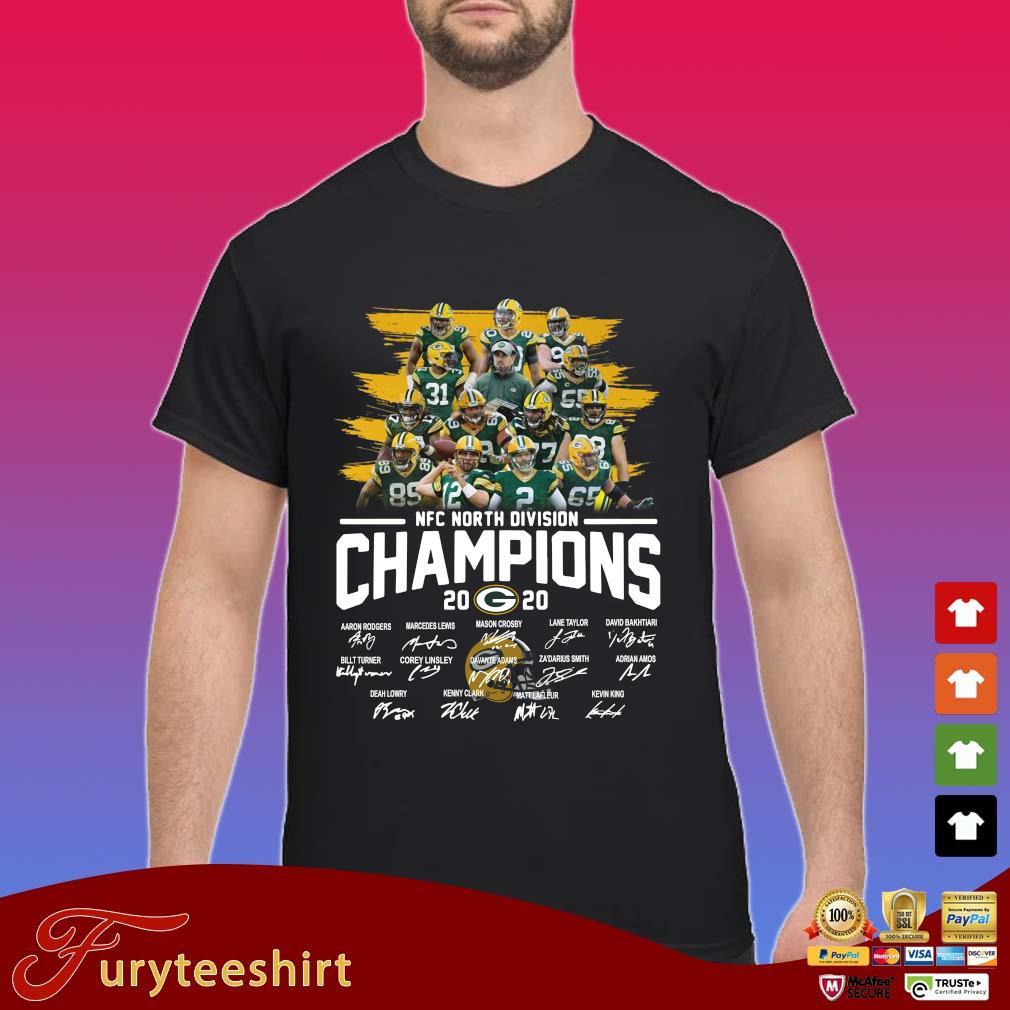 Green Bay Packers NFC north division Champions 2020 signatures s Shirt