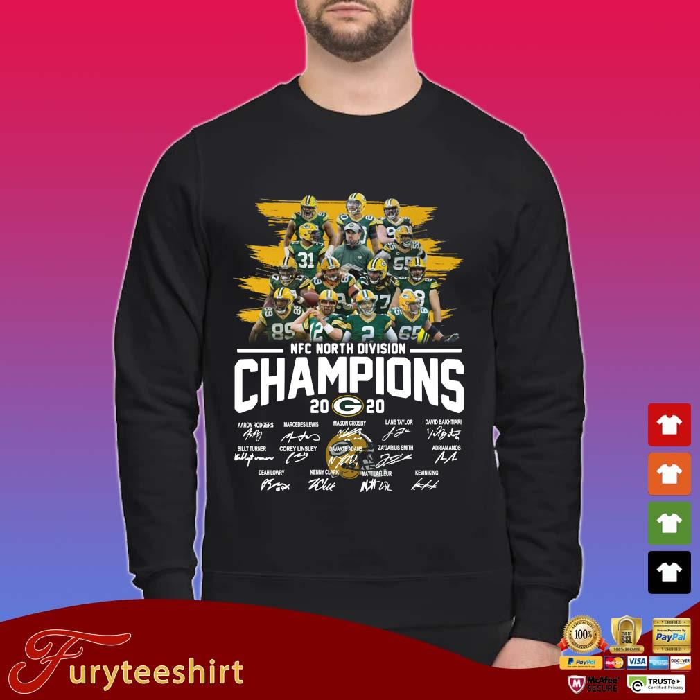 Green Bay Packers NFC north division Champions 2020 signatures shirt