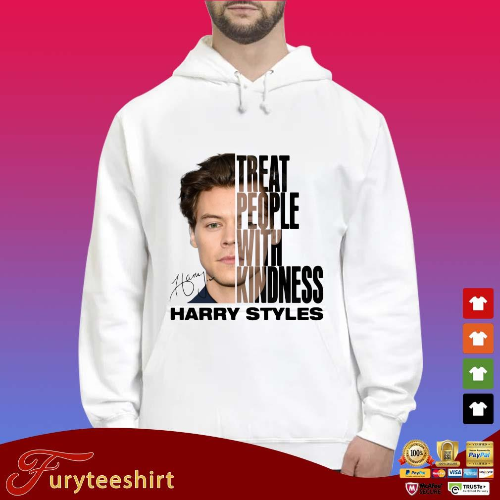 Harry Styles treat people with kindness signature s Hoodie trắng