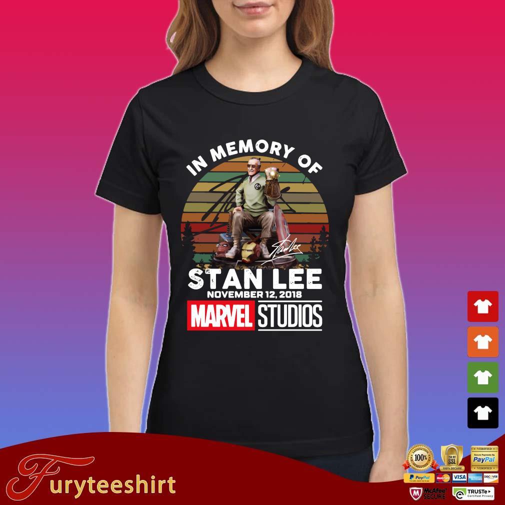 In memory of Stan Lee november 12-2018 Marvel Studios signature vintage sunset s Ladies