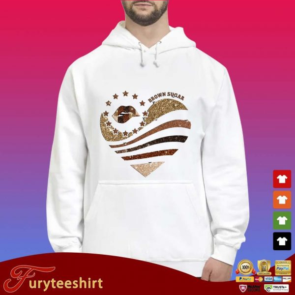 Lips heart brown sugar Diamond s Hoodie trắng