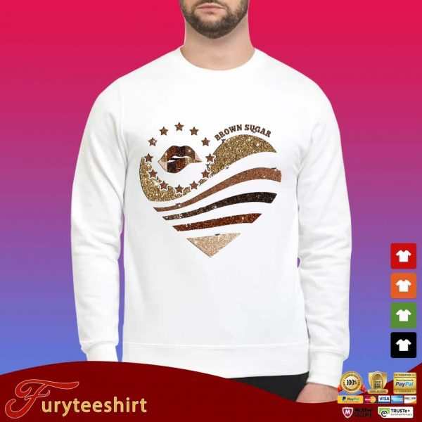Lips heart brown sugar Diamond shirt