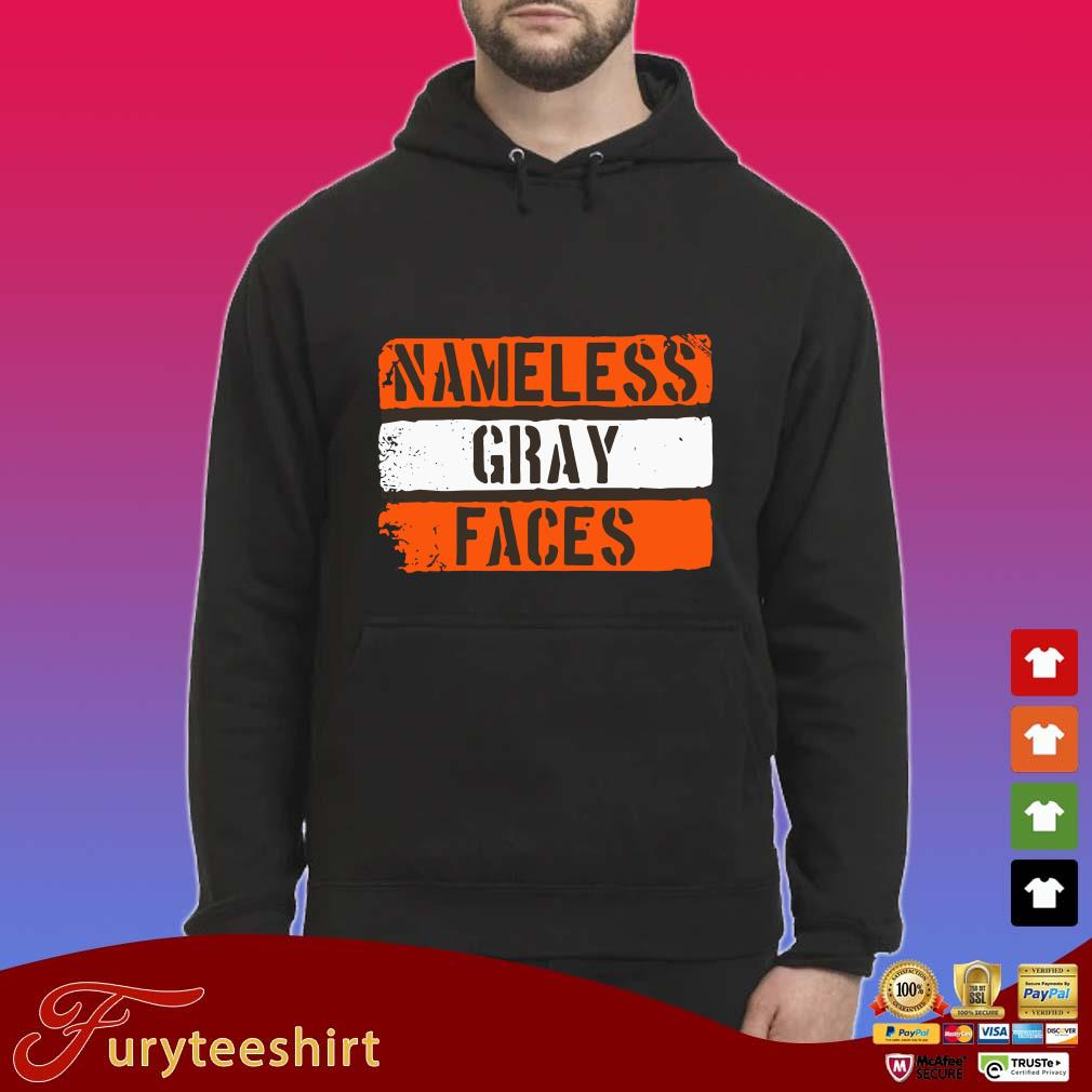Nameless gray faces s Hoodie