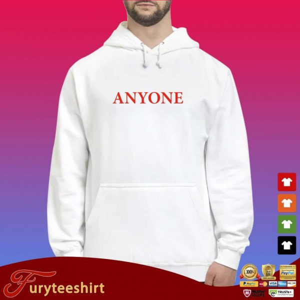 Official anyone s Hoodie trắng