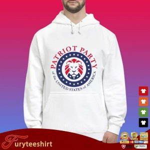 Official patriot party of the united states of America shirt, hoodie Hoodie trắng