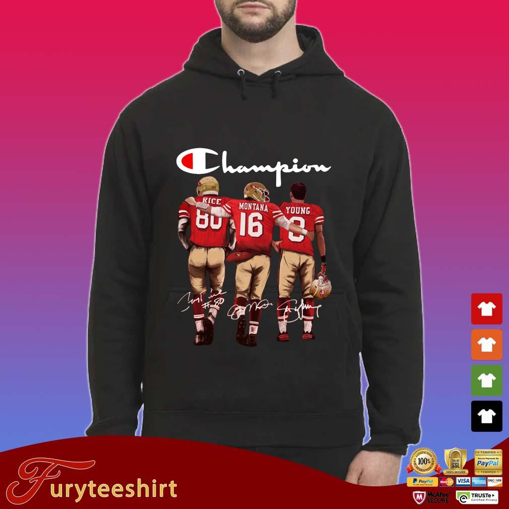 San Francisco 49ers Champion Rice Montana Young signatures s Hoodie