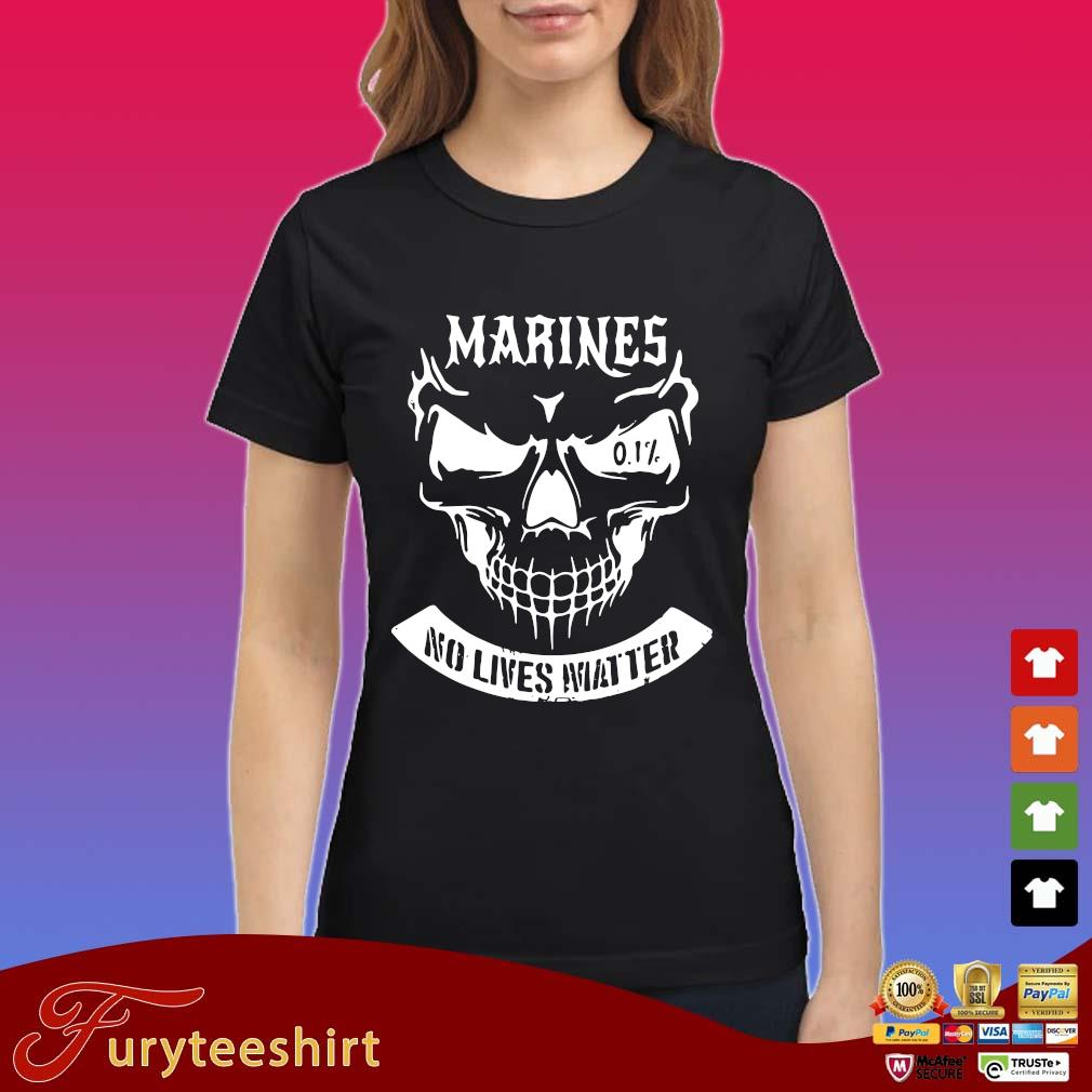 Skull Marines No Lives Matter Shirt Ladies
