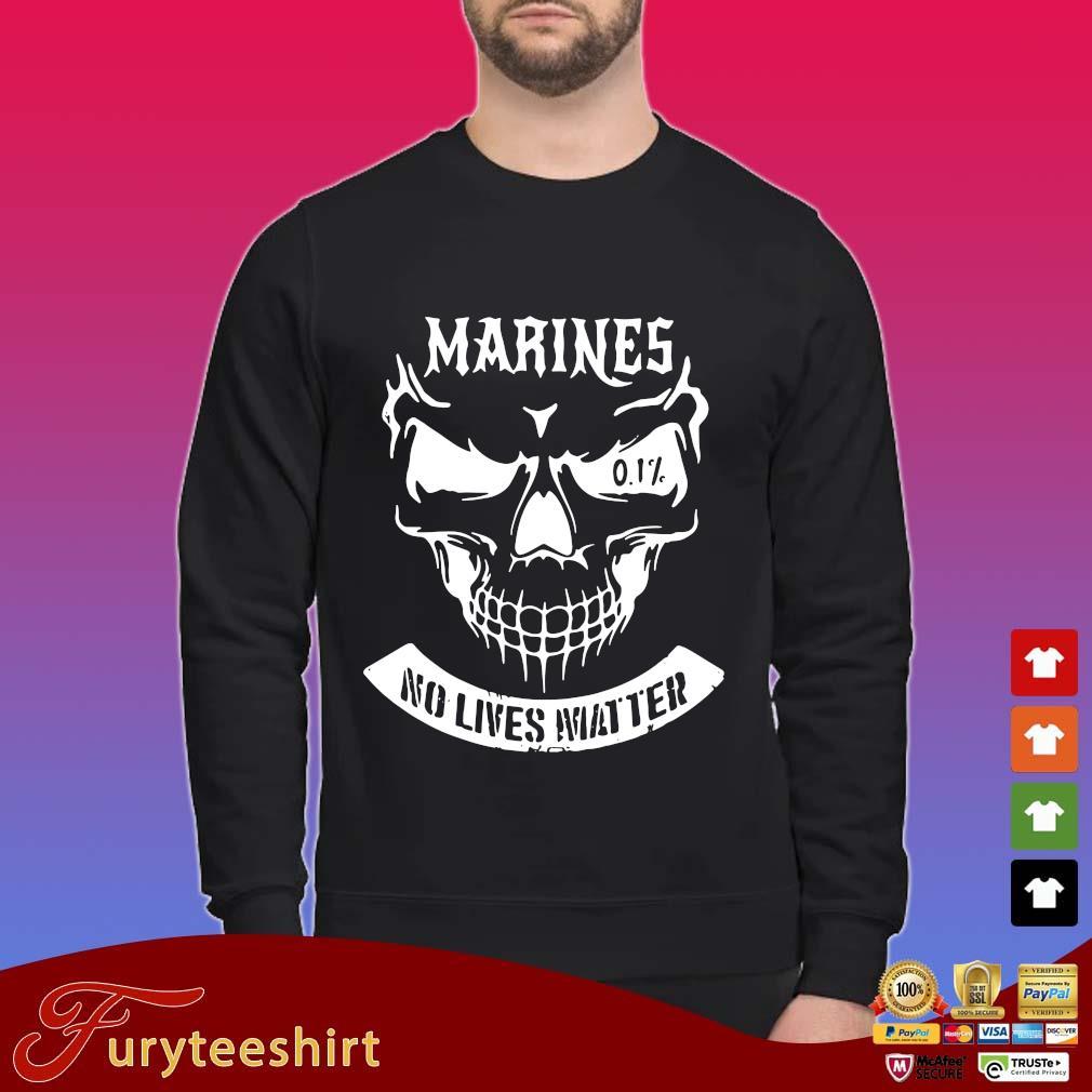Skull Marines No Lives Matter Shirt