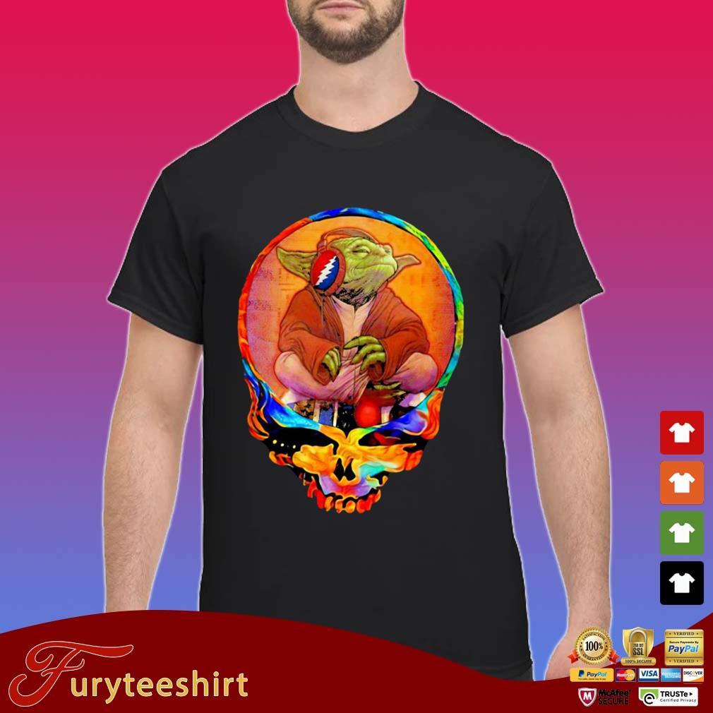 Skull Yoda Listen To Grateful Dead s Shirt