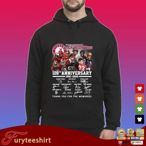 The Alabama Crimson Tide 128th anniversary 1892-2020 thank you for the memories signatures s Hoodie