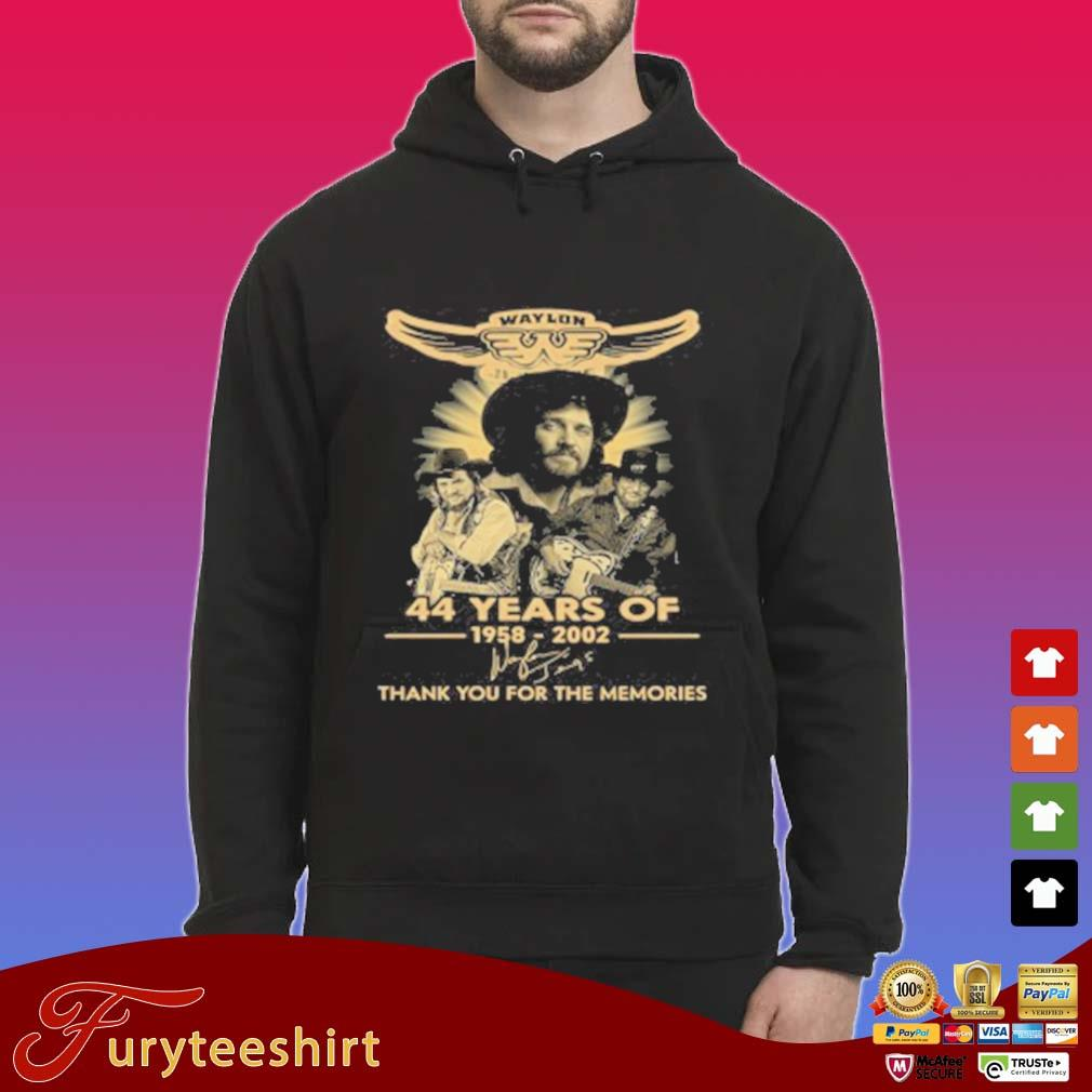 Waylon Jennings 44 Years Of 1958 2020 Signature Thank You For The Memories T-Shirt Hoodie