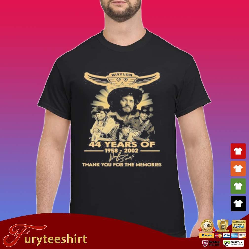 Waylon Jennings 44 Years Of 1958 2020 Signature Thank You For The Memories T-Shirt Shirt