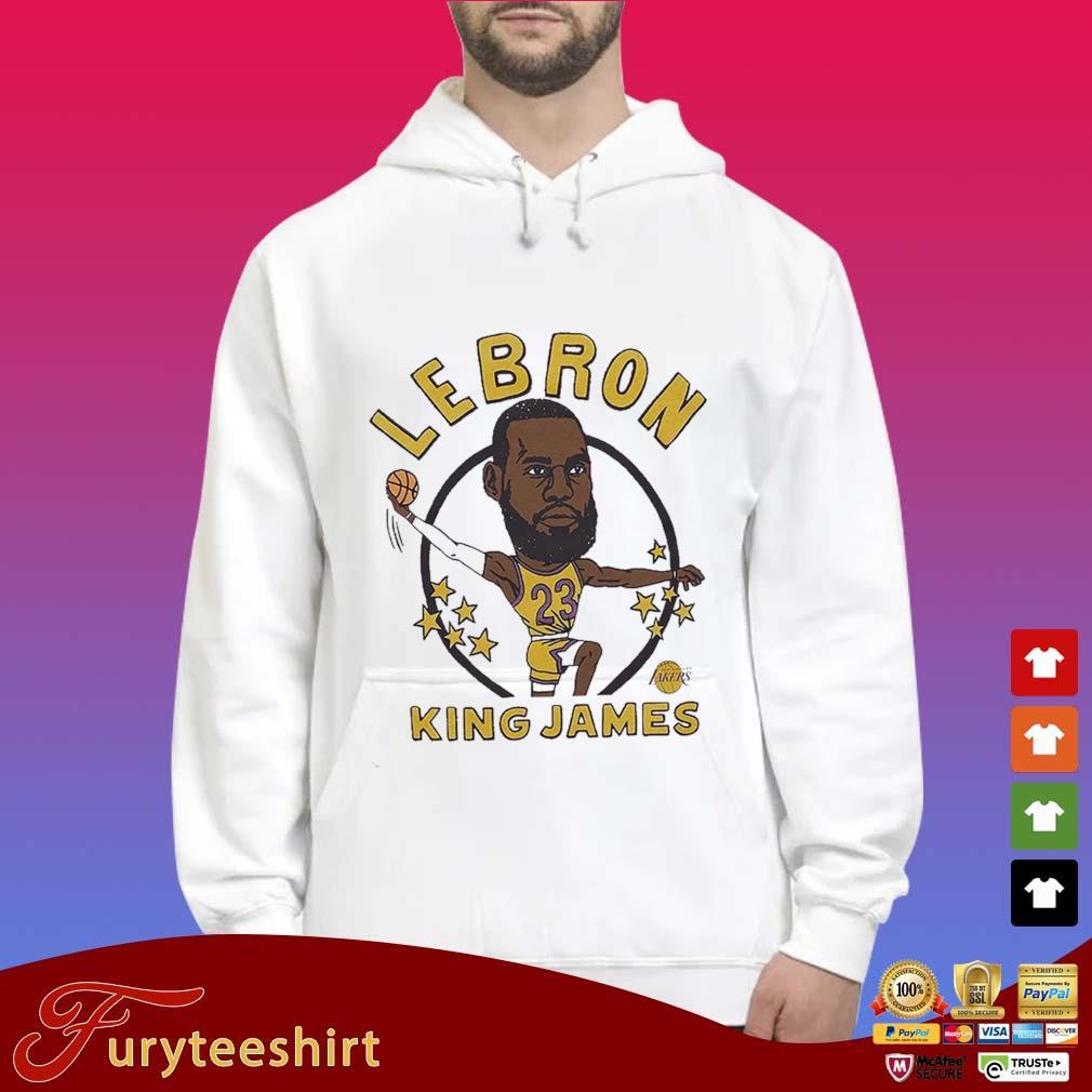 LeBron James King Caricature Shirt Hoodie trắng