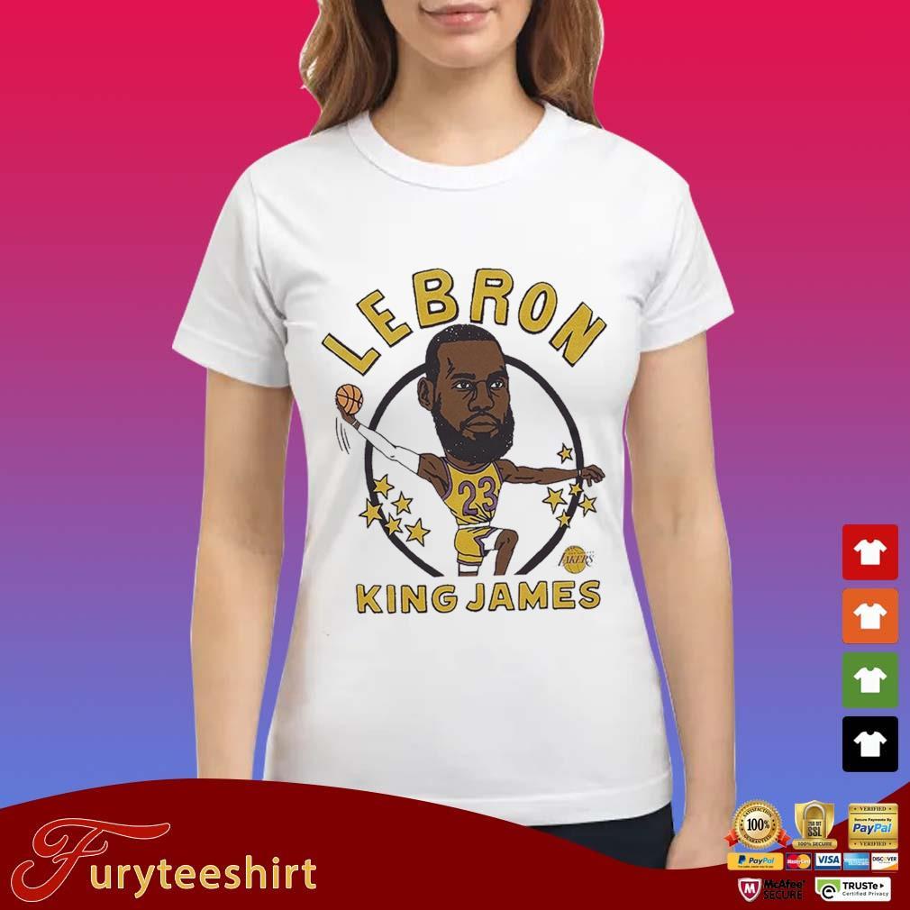 LeBron James King Caricature Shirt Ladies trang