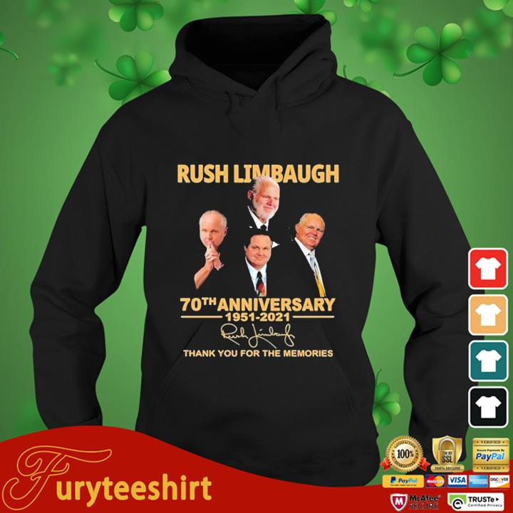 Rush Limbaugh 70th Anniversary 1951-2021 Signature Thank You For The Memories Shirt hoodie den