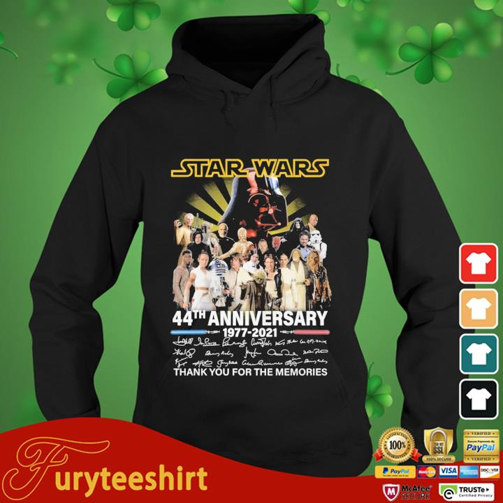 Star Wars 44th anniversary 1977-2021 thank you for the memories signatures hoodie den