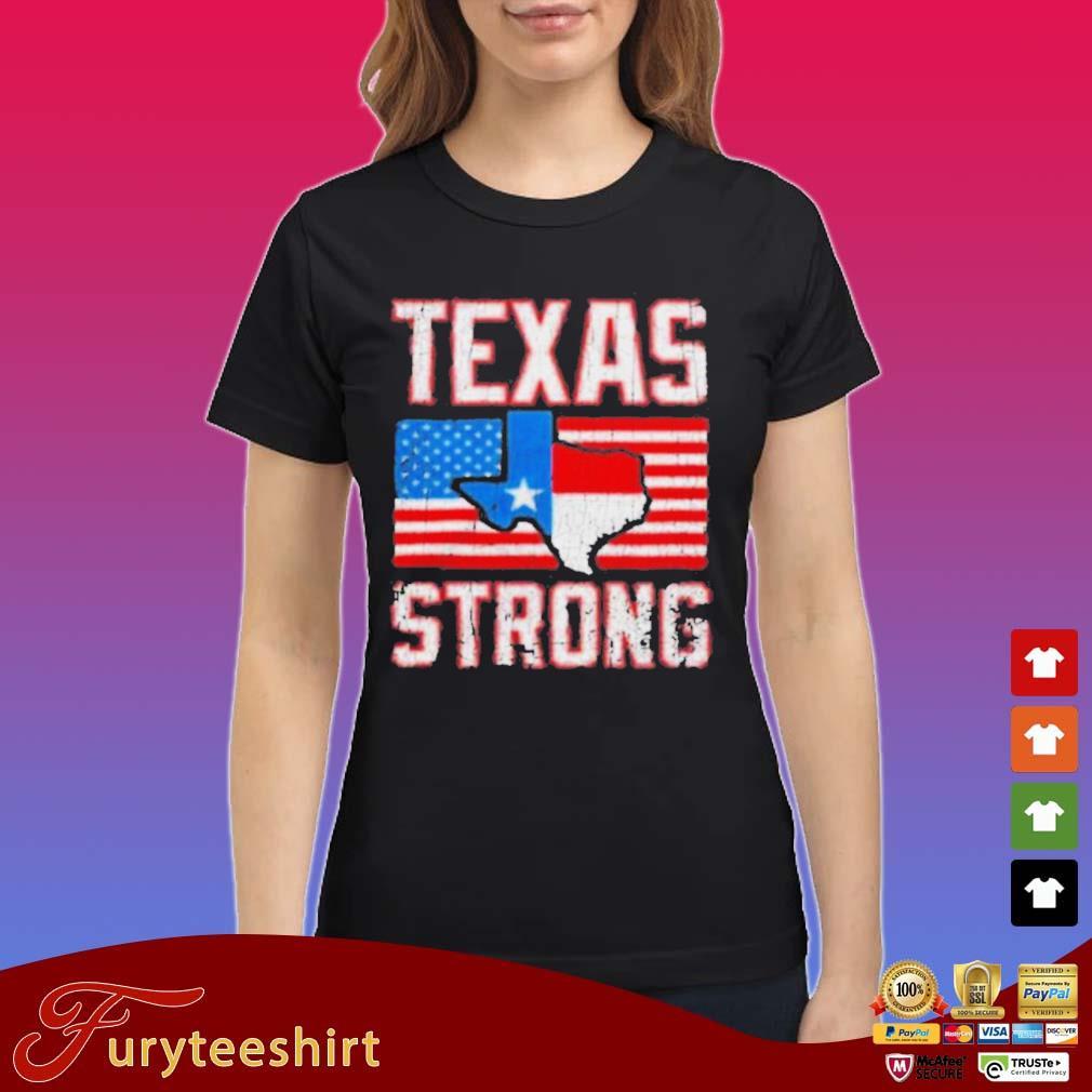Texas Strong American Flag Shirt Ladies