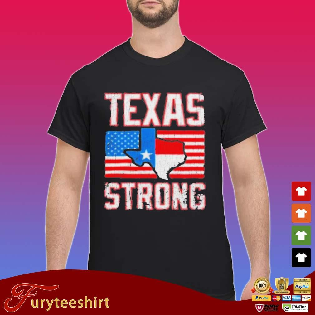 Texas Strong American Flag Shirt