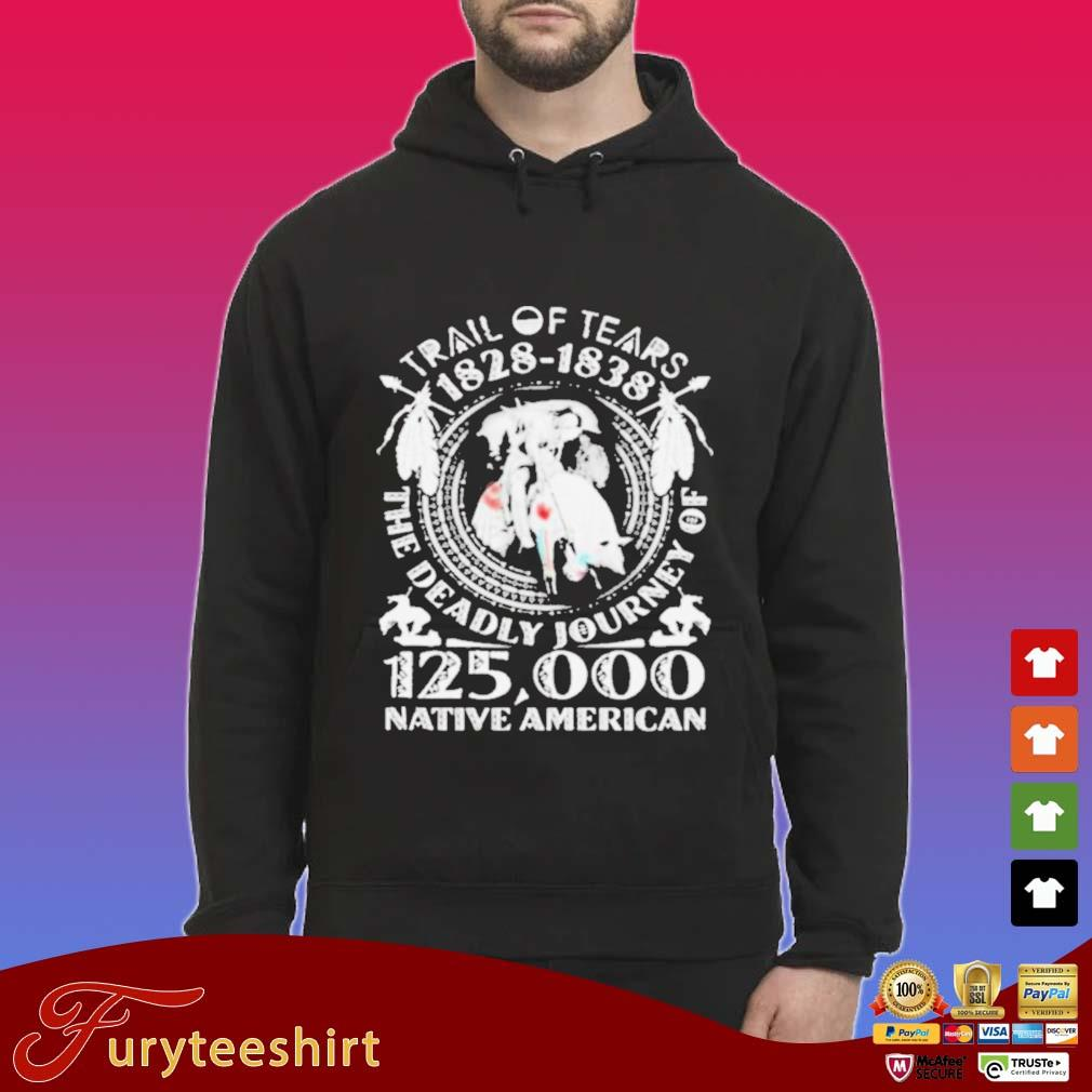 Trail Of Tears 1828-1838 The Deadly Journey Of 125000 Native American Shirt Hoodie