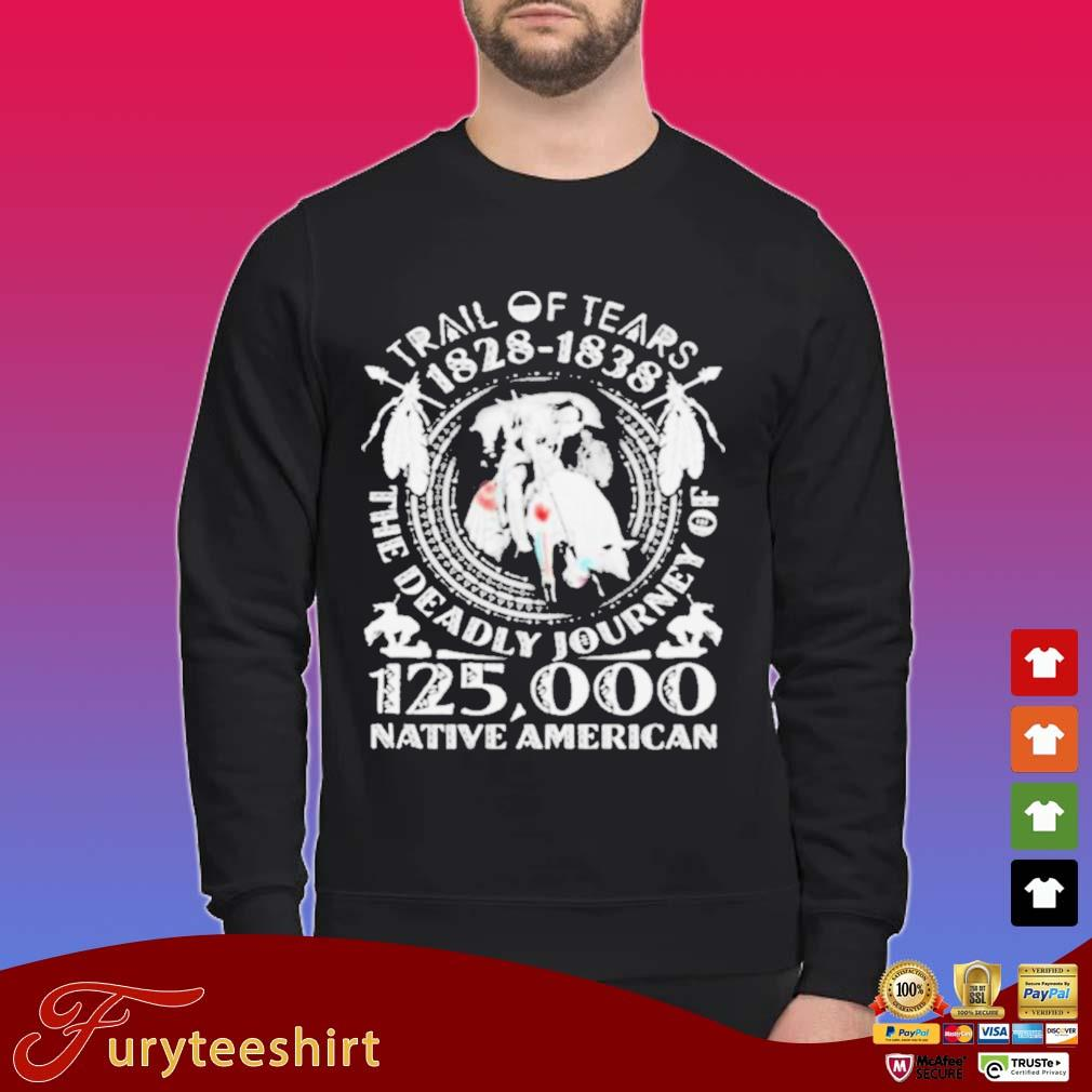 Trail Of Tears 1828-1838 The Deadly Journey Of 125000 Native American Shirt Sweater