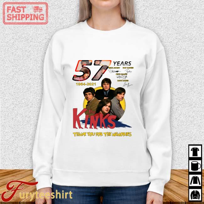 57 Years 1964 2021 The Kinks Signatures Thank You For The Memories Shirt Sweater trang