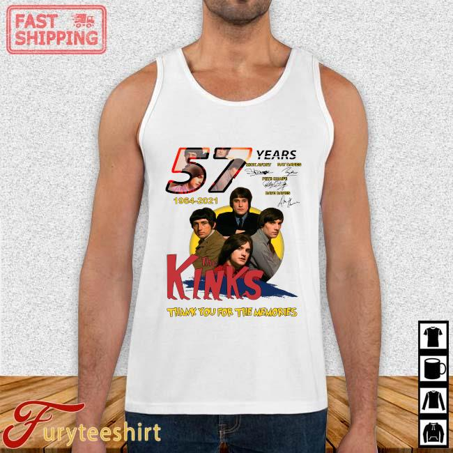 57 Years 1964 2021 The Kinks Signatures Thank You For The Memories Shirt Tank top trang
