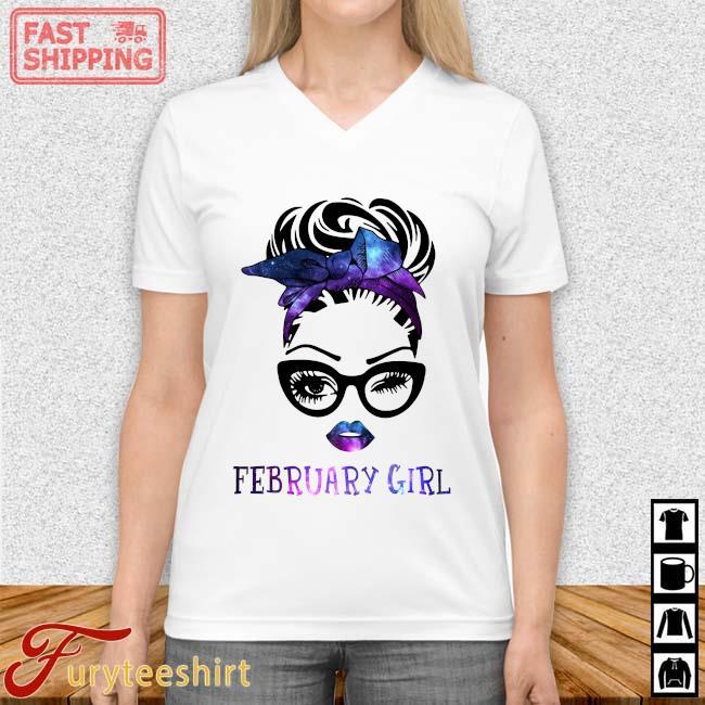 February Girl Galaxy Shirt Vneck trang