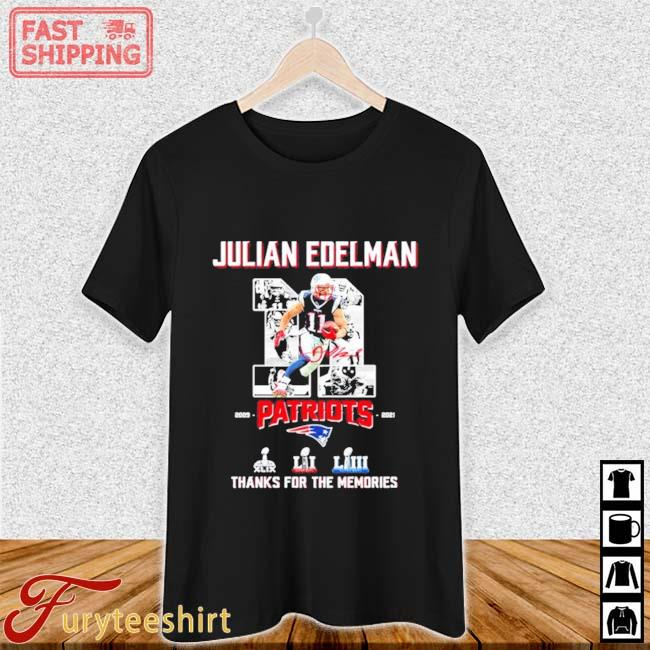 11 Julian Edelman Patriots Thanks For The Memories Shirt