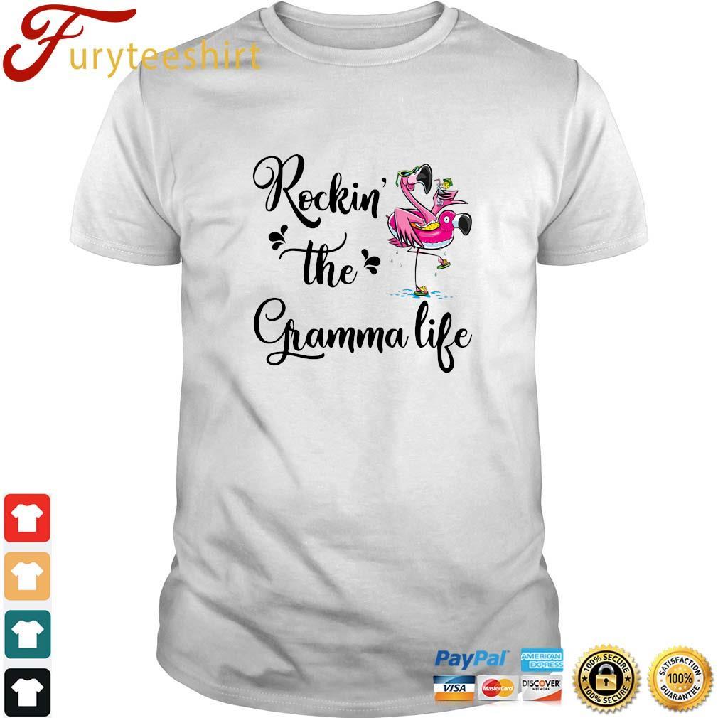 Flamingo rockin' the gramma life shirt
